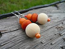- ZĽAVA - VÝPREDAJ :) Náušnice Pomarančové leto - 9659542_