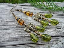- ZĽAVA - VÝPREDAJ :) Náušnice Green Orient Day - 9660729_