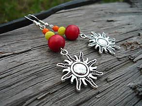 Náušnice - ZĽAVA - VÝPREDAJ :) Náušnice Indiánske slnko - 9660971_