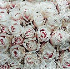 Papier - S1236 - Servítky - ruže, ružičky, roses, vintage, romantika, svadba - 9659544_