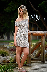 Šaty - Krátké šaty kytičky - 9659717_