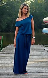Šaty - Dlouhé šaty petrolejové - vyberte si svou barvu!! - 9659758_