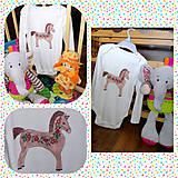 Detské oblečenie - Hnedý ľudový koník - 9658655_