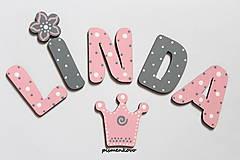 Detské doplnky - LINDA princeznička, ozdoby z dreva - 9660613_