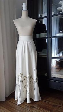 Sukne - Úpletová sukňa s trávami - 9659860_