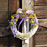 Dekorácie - Venček na dvere Vitajte - 9659982_