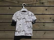 Detské oblečenie - Tričko s koníkmi - biele - 9661045_