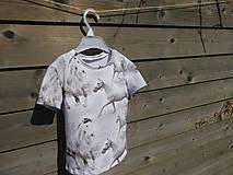 Detské oblečenie - Tričko s koníkmi - biele - 9661046_