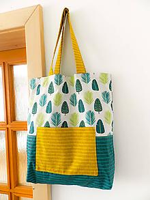 Nákupné tašky - Palmové listy - 9658532_