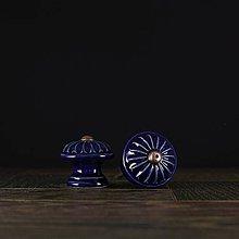 Nábytok - Úchytka - knopka kobaltově modrá - vzor č. 4 malá - 9657922_