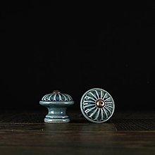 Nábytok - Úchytka - knopka  modrá - vzor č. 4 malá - 9657928_