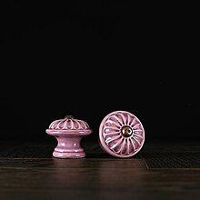 Nábytok - Úchytka - knopka lila - vzor č. 4 malá - 9657935_