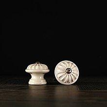 Nábytok - Úchytka - knopka ecru - vzor č. 4 malá - 9657970_