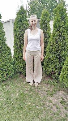 Nohavice - Nohavice Maya cena znížená z 20€ na 15€ (Béžová) - 9659594_
