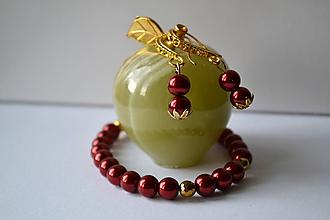 Sady šperkov - Sada z perličiek a mosadze - 9660414_