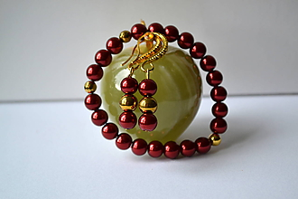 Sady šperkov - Sada z perličiek a mosadze - 9660438_