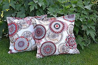 Úžitkový textil - Mandaly na smotanovej - 9659820_