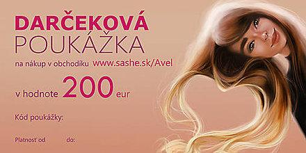 Darčekové poukážky - Darčeková poukážka 200€ - 9659814_
