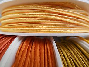 Galantéria - Šujtášová šnúrka 100% viskóza - 1m (Sweet orange (A 1202)) - 9659785_