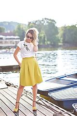 Sukne - Oslnivá žltá sukňa - 9662430_