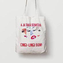 Nákupné tašky - A ja taká dzivečka - 9661114_