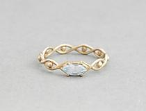 Prstene - 585/1000 zlatý prsteň s modrým topásom - 9662498_