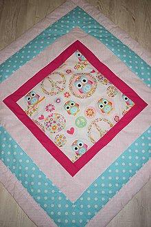 Textil - DĚTSKÁ PATCHWORKOVÁ DEKA ...sovičky - 9662778_