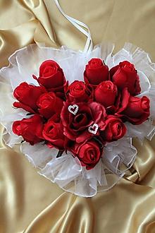 Dekorácie - Svadobné srdce na dvere bordové - 9662283_