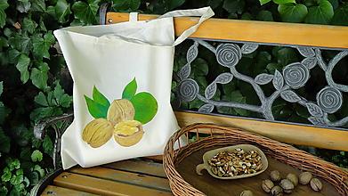 Nákupné tašky - maľovaná taška - oriešková - 9662000_