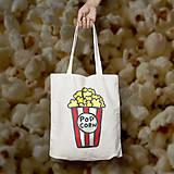 Nákupné tašky - Popcorn (bavlnená taška) - 9661091_