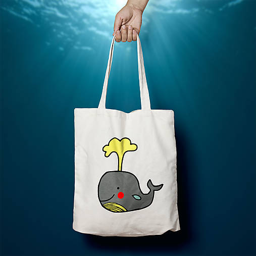Veľryba (bavlnená taška)