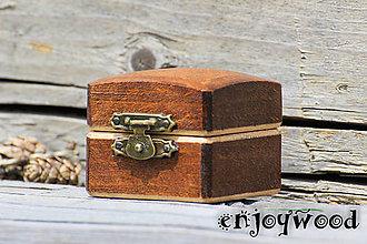 Krabičky - Krabička na snubný prsten - 9661993_