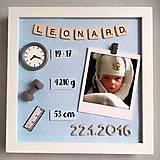Detské doplnky - Fotorámik k narodeniu bábätka - modrý - 9661803_