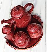 Nádoby - Bordová keramická súprava - 9661387_