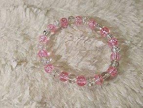 Náramky - Pink crackle - 9662298_