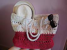 Veľké tašky - Plážová maxi taška - 9662442_