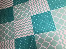 Úžitkový textil - Mentolka - deka patchwork - 9662166_