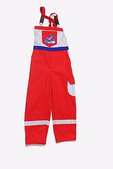 Detské oblečenie - Detské montérky červené Báger - 9662467_