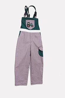Detské oblečenie - Detské montérky sivé Traktor - 9662490_