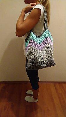 Veľké tašky - Háčkovaná taška SKLADOM - 9661750_