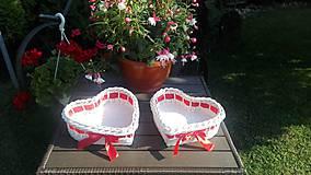 Košíky - Srdiečka pre novomanželov :) - 9661162_
