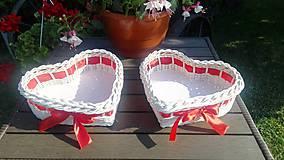 Košíky - Srdiečka pre novomanželov :) - 9661164_