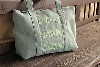 Veľké tašky - svetlo zelena belka 2 - 9661146_