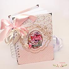Papiernictvo - Kvetovaný zápisník - 9664632_
