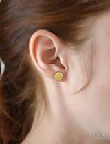 Náušnice - 585/1000 zlaté náušnice šrubovacie - 9663826_