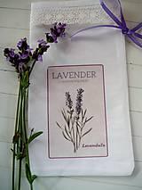 Úžitkový textil - Vrecúška na levanduľu  NOVÉ - 9665669_