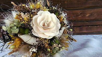 Dekorácie - Biela malá kytička - 9665793_