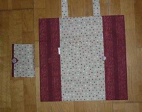 Nákupné tašky - Taška nákupná skladacia s vreckom  - štyri varianty (3 kombinácia) - 9664740_