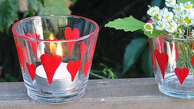 Svietidlá a sviečky - svietnik - srdiečkový - 9665310_