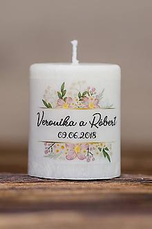 Darčeky pre svadobčanov - Menovka alebo darček pre svadobčanov - Sviečka - Vzor č.42 - 9663259_